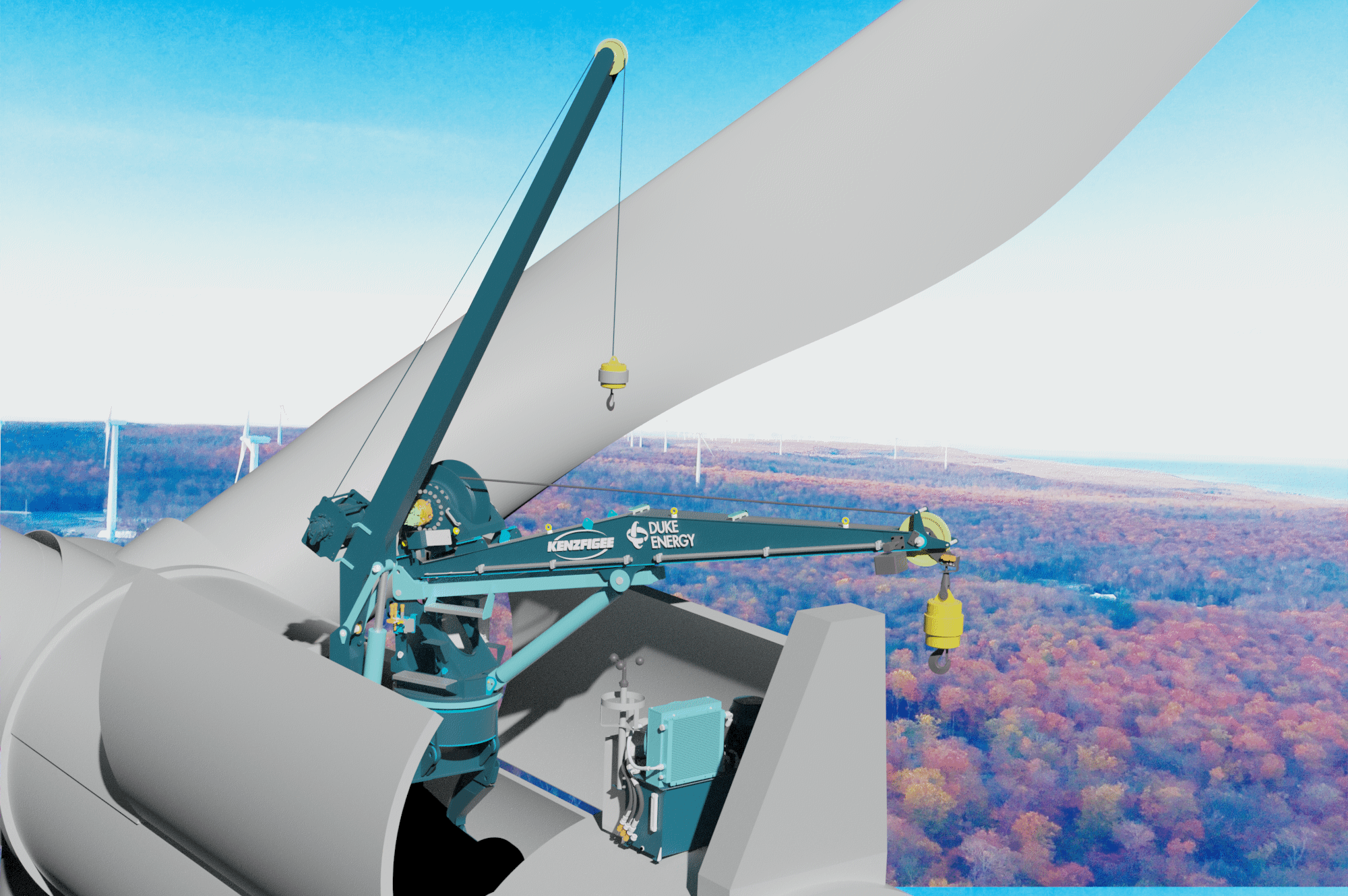 KenzFigee signs contract with Duke Energy for delivery of first GenHook LT up-tower crane
